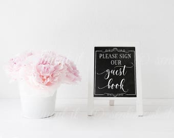 "DIY PRINT Chalkboard Wedding Sign 8x10"" | Guest Book"