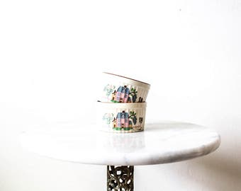 Vintage Prep Bowls | Cooking Utensils | Mini Casserole Dishes | Meal Prep | Farmhouse Kitchen | Planters | Succulents | Bridal Shower Gift
