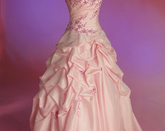 Pale pink wedding/ Quinceañera  / special occasion gown