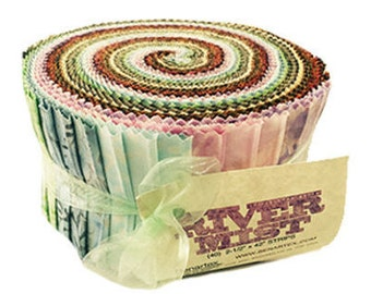 "Benartex Rivermist Balis Batik Pinwheel/Jelly Roll - 40, 2.5"" of Precut Fabric Strips"