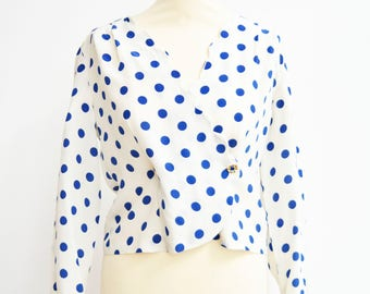 Vintage polka dot shirt 50s polka dot shirt vintage woman women