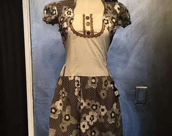 1960s mod mini dress- S