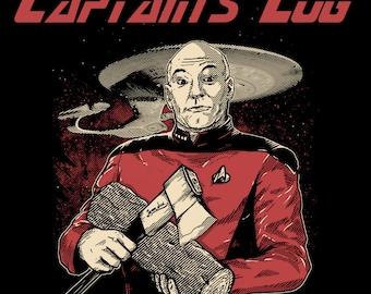 Captains Log T-Shirt Funny Mashup Geeky Sci Fi Novelty Humor Geek Nerdy Pop Culture Tee Shirt T-Shirts Mens Womens S-3XL Great Gift