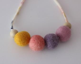 Daybreak 4 - Children's Felt Ball Necklace