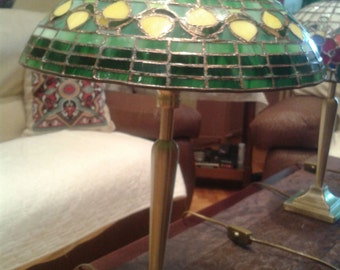 handcrafted stained glass lamp
