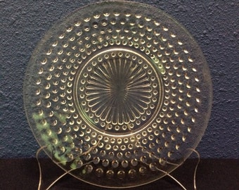 Vintage Hocking Hobnail Luncheon Plate