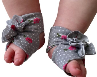 Floral Baby Shoes - Baby Girl Accessories- Newborn Sandal - Floral Sandals - Baby Girl Sandals - Baby Polka Dot Shoes - Soft Shoes