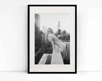 Marilyn Monroe on a Balcony in New York
