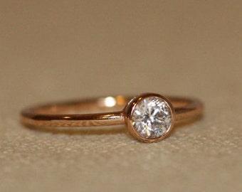 Unique Diamond Band, 14k Diamond unique ring, Engagement ring Diamond unique ring, promise wedding band, stacking wedding bands
