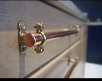Bespoke copper handles