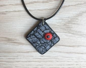Multicolour 3D polymerclay necklace / pendant handmade