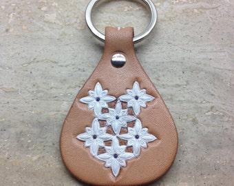 Leather craft Handmade Key holder