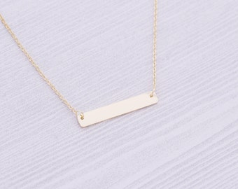 Gold Stainless Bar Necklace - Stamping Supplies - Engraving Supplies - Bar Necklace - Stainless Steel Blanks - Hand Stamping Blanks
