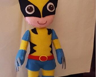 Doll type Wolverine in pannolenci
