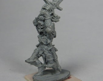 Dungeons and Dragons Miniature - DND - Death Knight Fighter / Warrior - Unpainted - Vintage - Role Playing - RPG - Miniature