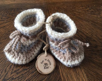 The Beach Crochet Baby Bootie