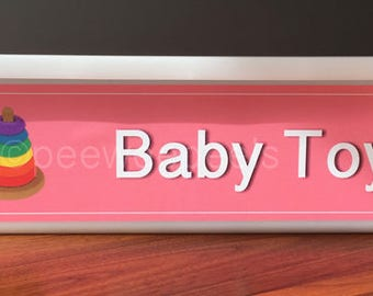 Baby Toys label,  Adhesive Toy Bin Label, Toy Decal, to organize playroom and classroom. Fit for Ikea Trofast Unit, SMALL Bin