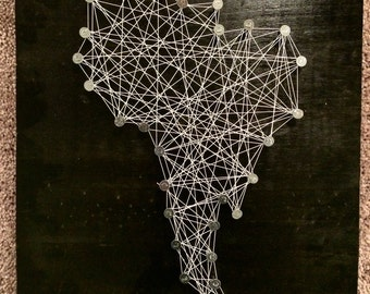 South Africa; Abstract Contemporary Modern Art on Wood