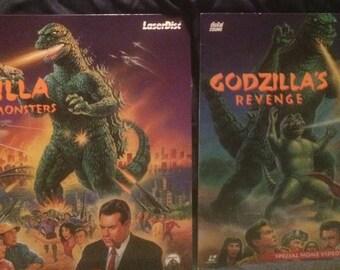 GODZILLA Vintage Laserdisc Collectible Lot (2)