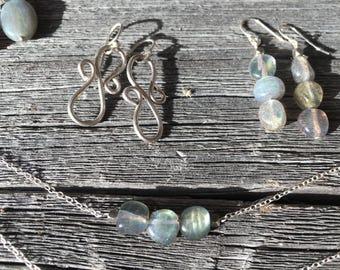 Labradorite Trio Necklace