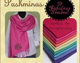 Monogrammed Pashmina Wraps