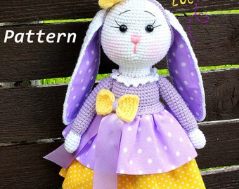 Pattern Easter Crochet Bunny Zoe Crochet Toys Easter Bunny Rabbit Pattern Amigurumi Crochet Patterns Easter Toys Stuffed Animal Bunny Toy