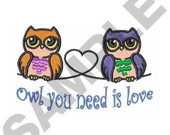 Owls - Machine Embroidery Design