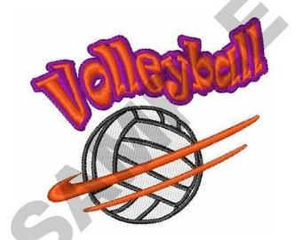 Volleyball - Machine Embroidery Design