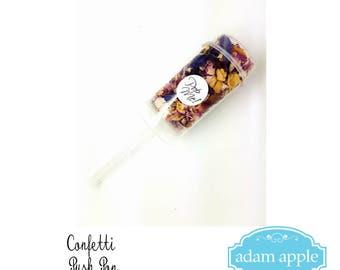 Natural Dried Petal Wedding Confetti Popper, push pop, wand,