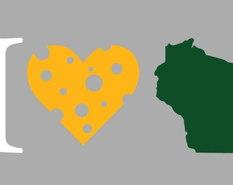 I Heart Wisconsin Sticker