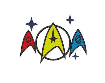 Star Trek embroidery design - Badges - Machine embroidery design - NushNusha shop
