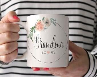 New Grandparent Mug | Grandmother Christmas Gift | Personalized Grandma Mug | New Grandma Christmas Gift | Grandmother Gift Mug | 15 oz