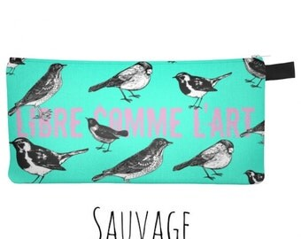 Free BIRDS • Pencils • Makeup - Phone Pouche • handmade in montreal