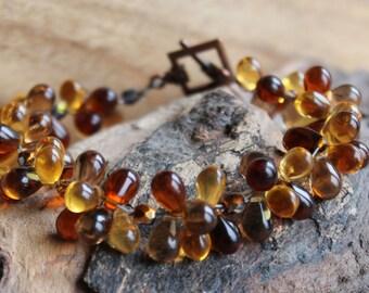 Bead Drop Cluster Bracelet Elegant Bangle Gift for Girlfriend Gift for Wife