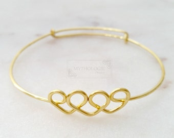 Heart Bracelet   Mother's Day Gift   Graduation bracelet   Bridesmaids bracelet   2 3 4 Sisters   Gift for Bride