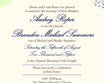 Floral Wedding Announcement