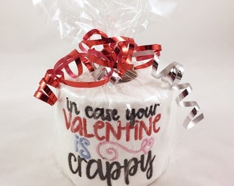 Valentines Day Gift, Embroidered Loo Roll, Embroidered Toilet Paper, Funny Quote Toilet Paper, Toilet Paper Gift, Gag Gift, Funny valentine