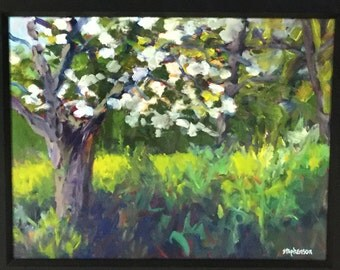 "Original Oil Painting Framed Landscape ""Dogwood"""