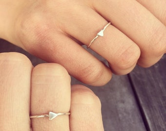 Small Triangle Ring - Sterling Silver