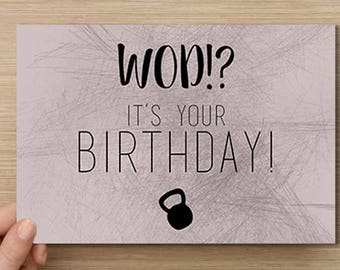 WOD!? It's your birthday? | Crossfit verjaardagskaart/Crossfit Birthday card