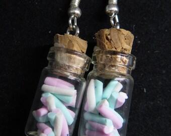 Cute Marshmallow Bottle Earrings