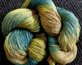 Hand Painted Yarn - Textured Rayon 10/2 - Sherwood Forest