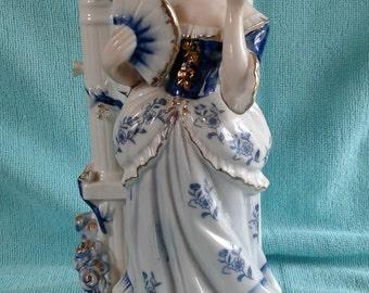 Vintage Lady in Blue