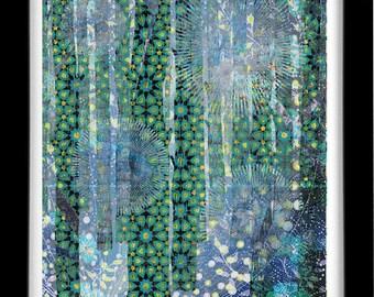 Forest in Arabesque, Sufi Art by Roya Azal