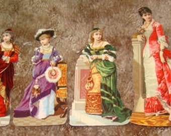 SALE 6 Victorian Scraps (Pretty Ladies)