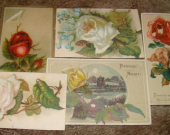 SALE 5 Pieces of Victprian Scrap (Roses)