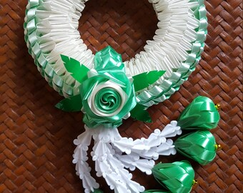 craft work with handmade plastic ribbon