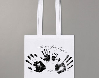 Handprint stars shopper bag