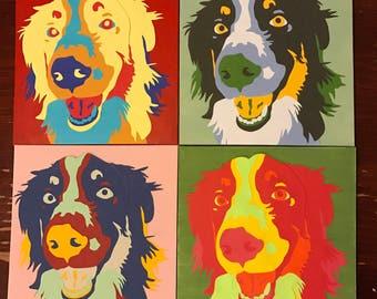 Pet Portrait | Custom Pet Portrait | Paper Collage | Pet Art