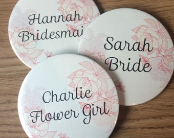 Bride/Bridesmaid gift - Flower girl gift - Mother of the bride - Pocket Mirror- 77mm in size. Bride to be. Hen party /Hen do /Hen Night.